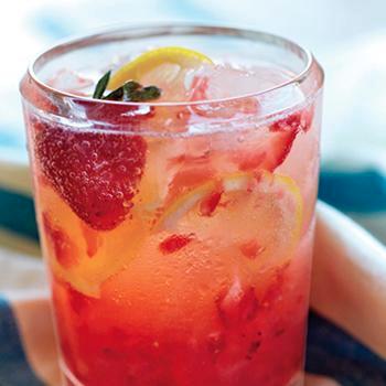#Spiked #Strawberry #Lemon #Spritzer