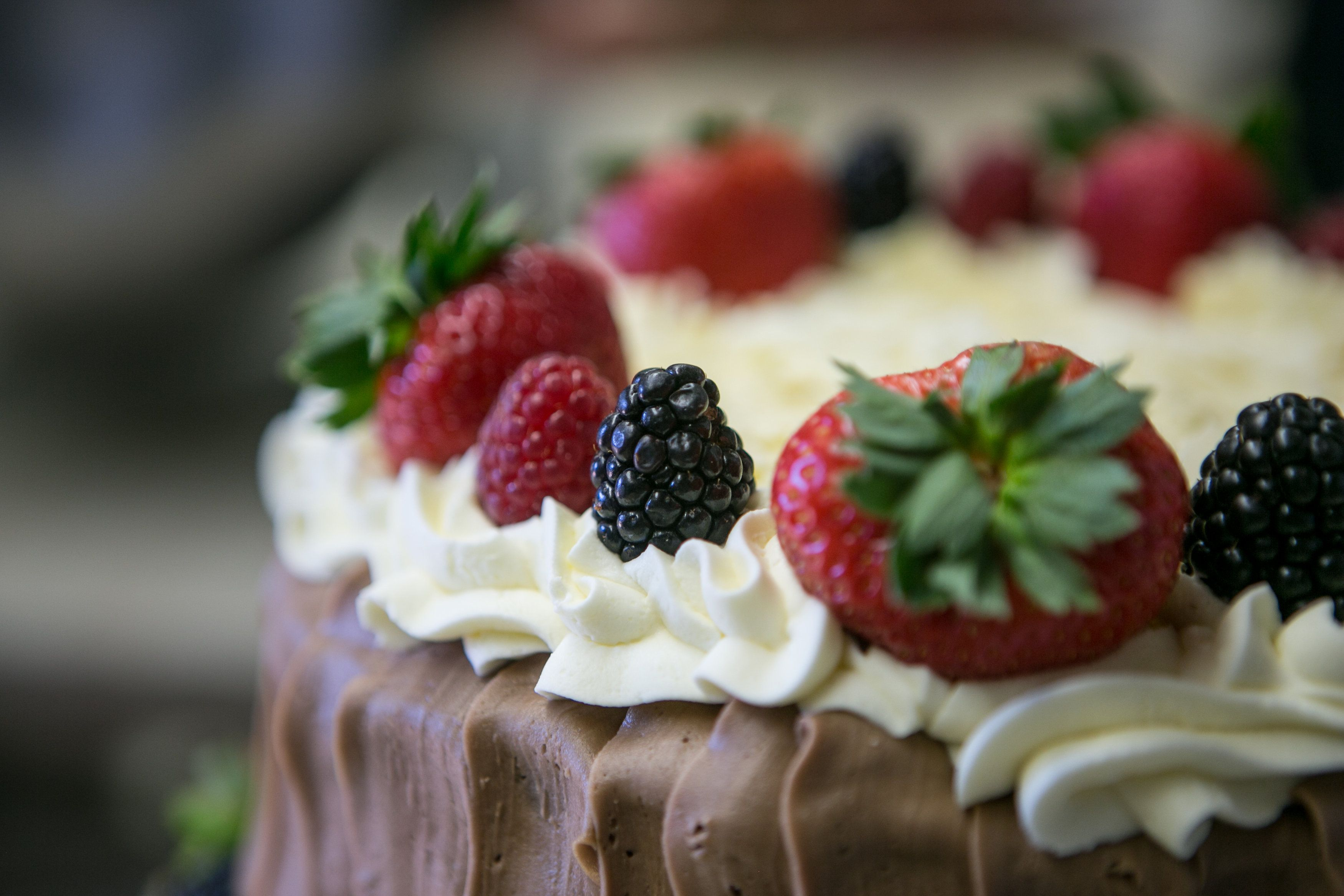 Chocolate fruit basket cake breadbasketcake chocolate