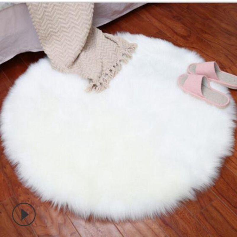 Faux Fur Artificial Sheepskin Carpet Washable Fluffy Rug Fluffy Bathroom Ru In 2020 Fluffy Rug White Faux Fur Rug