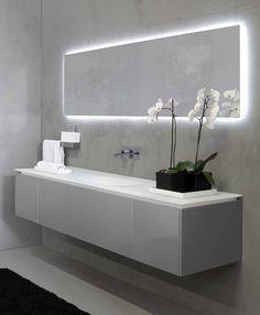 lighting behind mirror. Мебель для ванных комнат Rifra: CIRCLE\u0026SMOOTH #hogart_art #interiordesign #design #apartment #house #bathroom #furniture #rifra #shower #sink #bath\u2026 Lighting Behind Mirror