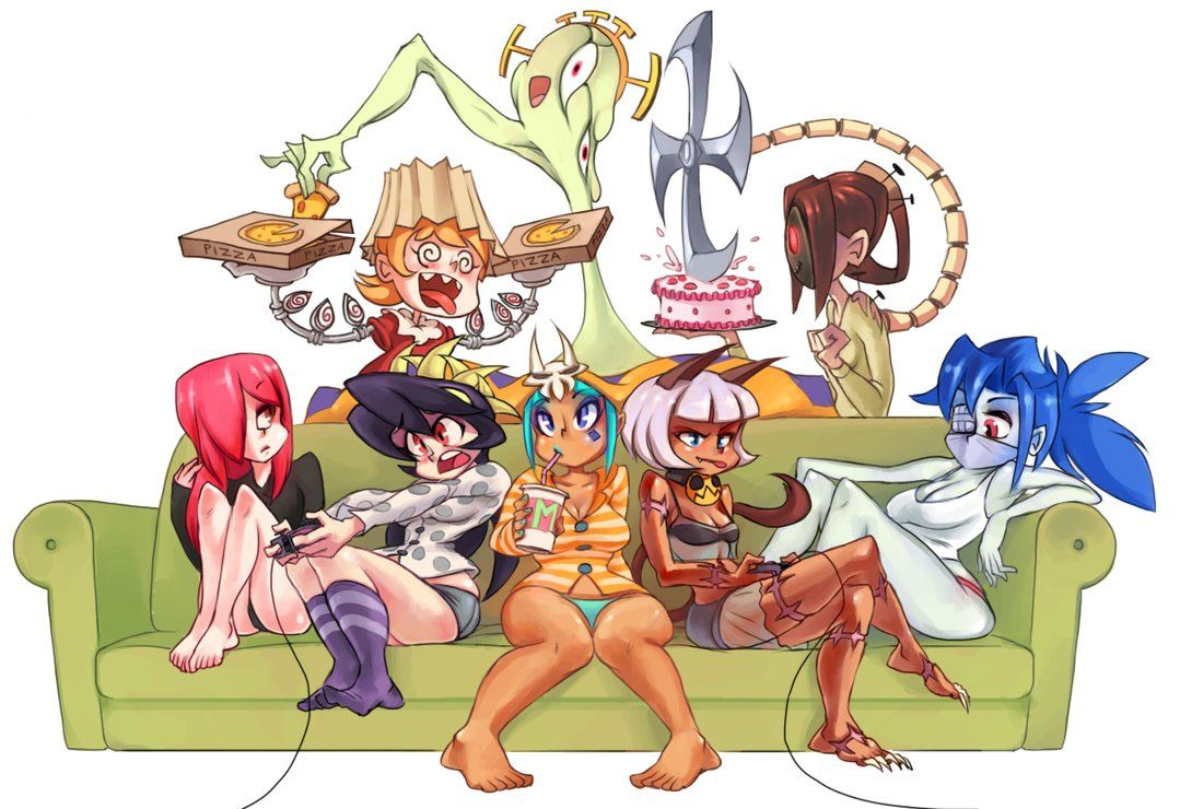 skullgirls sleepover by rtil