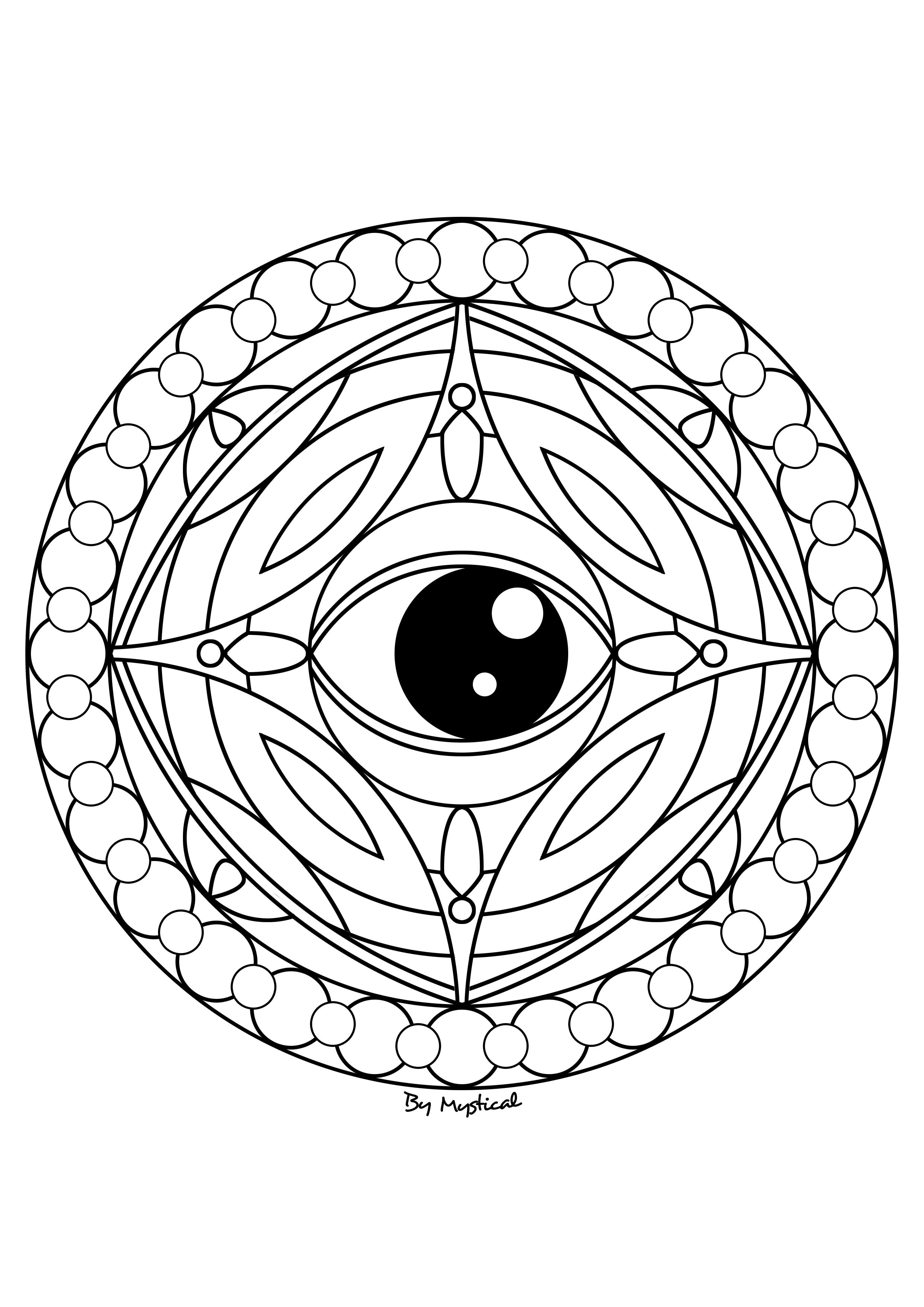 Mandala oeil coloriages dessins mandala color et - Oeil a colorier ...