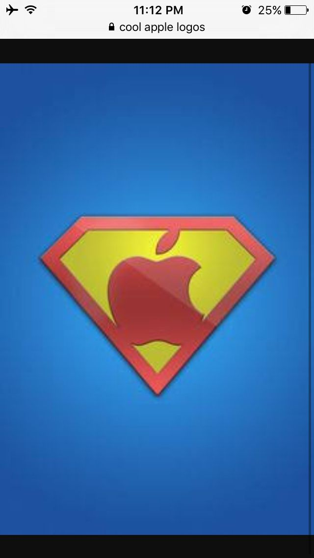 Superman Styled Apple Symbol Pictures To Look At Pinterest Symbols