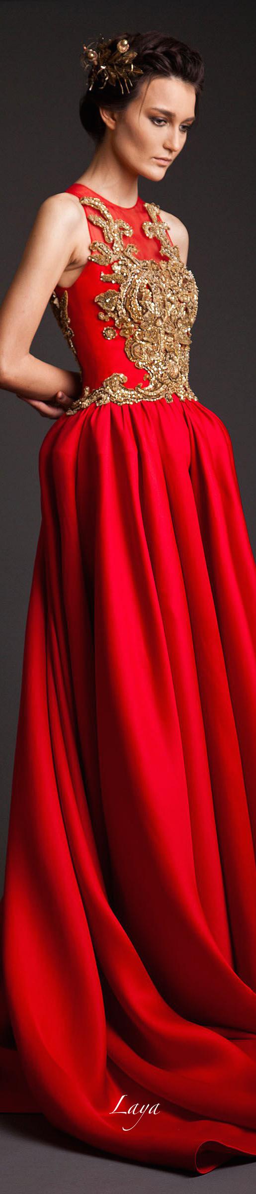 "Krikor Jabotian Couture S/S 2014 entitled ""AhkTamar"""