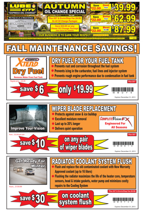 Deals On Oil Changes >> Alberta Oil Change Coupons Deals Save 20 Lube City Oil