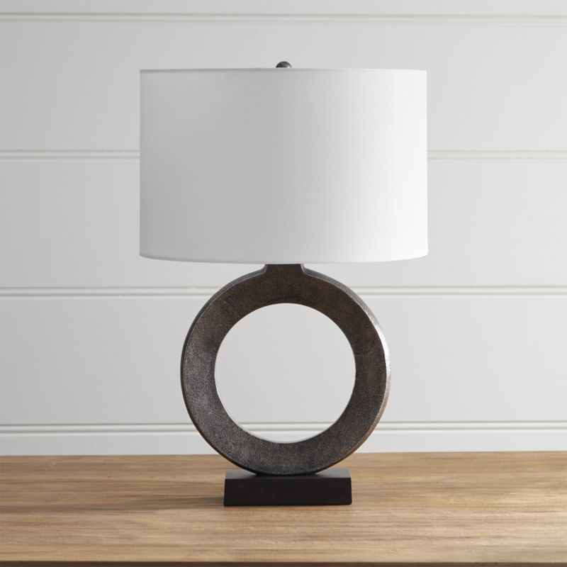 Crest Table Lamp With White Shade Table Lamp Lamp Silver Table Lamps
