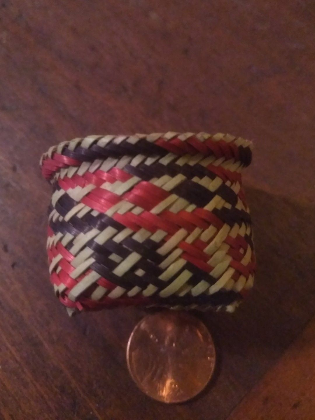 Handmade Choctaw Indian Miniature Double Weave Rivercane Basket Earrings
