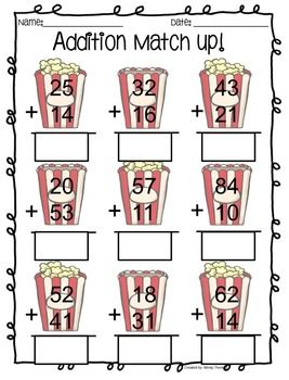 Double Digit Addition Activities | Math addition games, Math ...