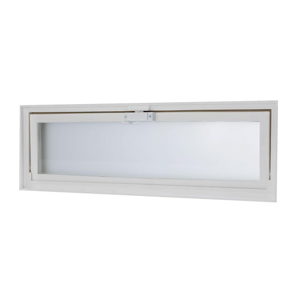 Soundproof Windows Home Depot Tafco Windows 23 25 In X 7 75 In Hopper Vent With Screen For