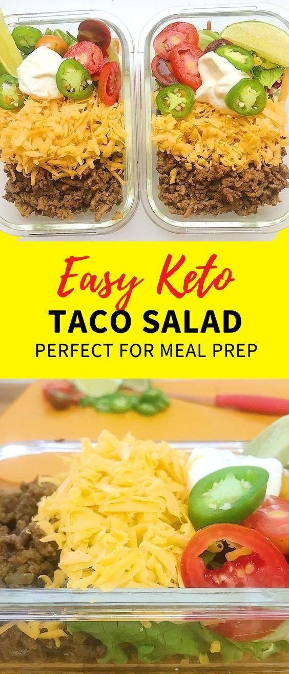 Keto Taco Salad - Ground Beef - #ketobreakfast #ketodiet #ketodietforbeginners #... #groundbeeftacos