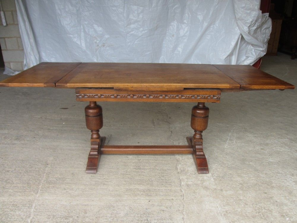 Oak Draw Leaf Extending Refectory Dining Table Table Dining