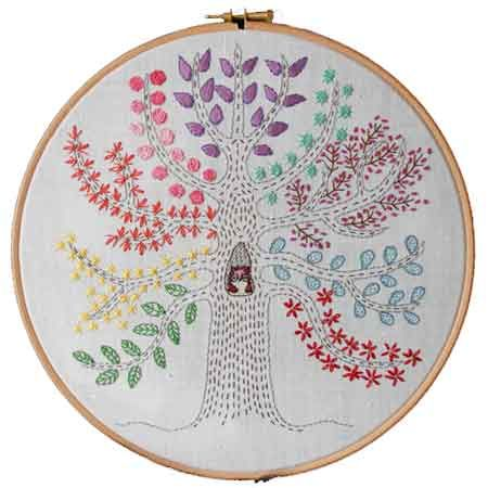 Tree Embroidery Sampler Tree Embroidery Pattern Download Sewing