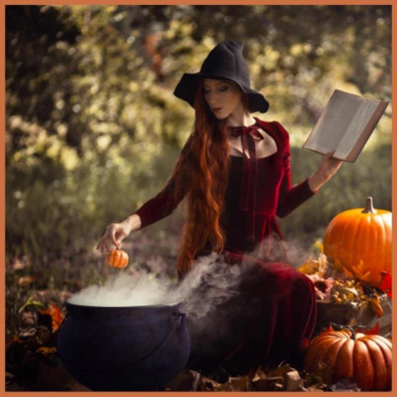 Modern Witch Hat in Orange