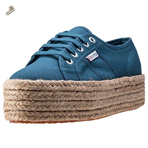 389b440ef8db5 Superga 2790 Flatform Rope Womens Trainers Blue - 3 UK - Superga ...