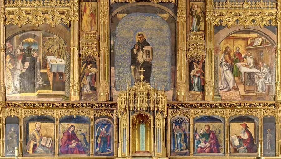 Pedro de Berruguete. retablos laterales de santo tomás de ávila