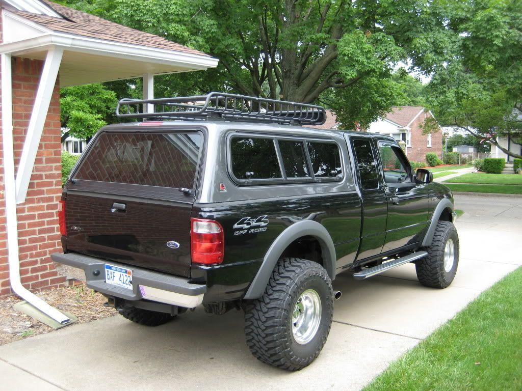 camper shell roof rack ford ranger