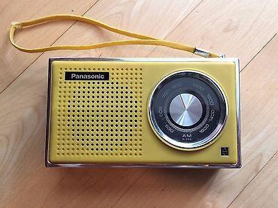 Vintage Panasonic AM Radio Model R-1241 Yellow Tested & Working
