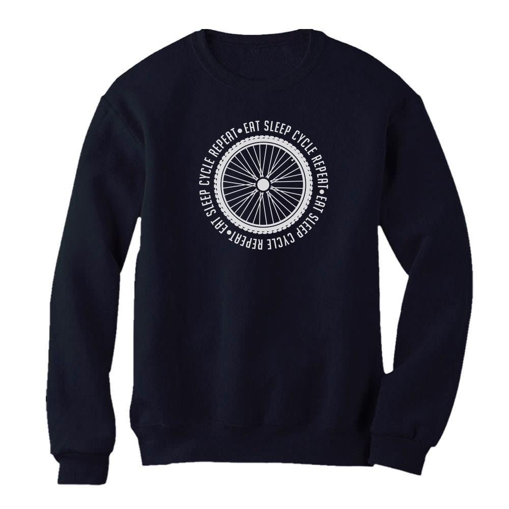 Cycling Bike Cool Hoodie Gift Idea Eat Sleep Cycle Repeat