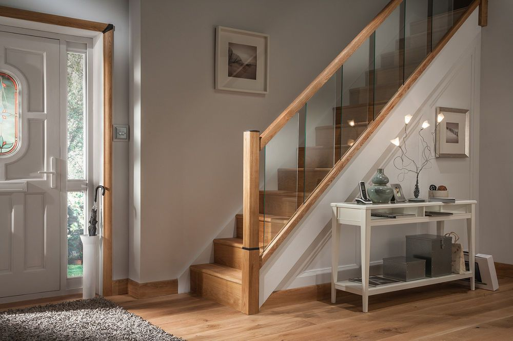 Best Glass Reflections Glass And Oak Rails Stair Or Landing 640 x 480