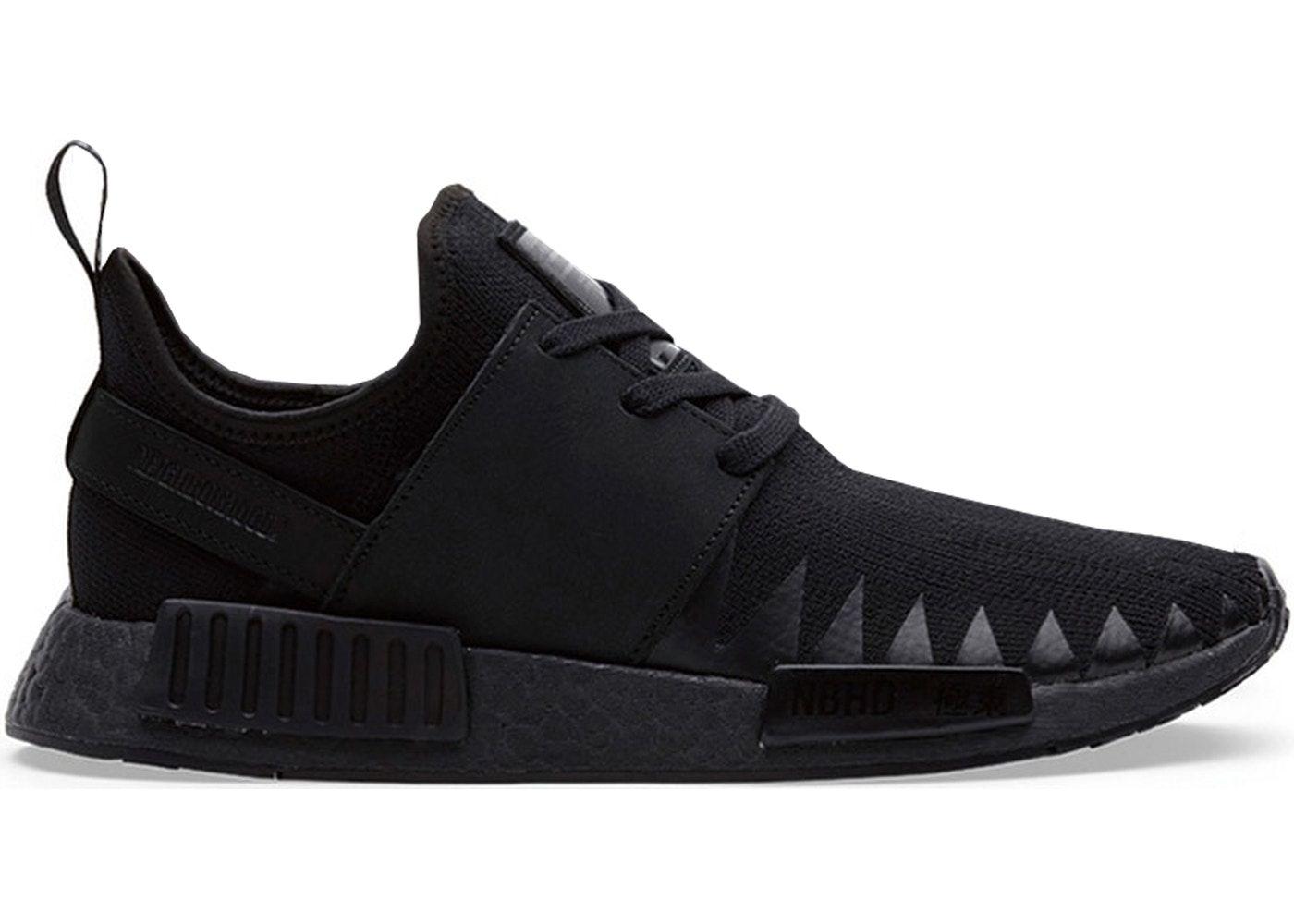 Adidas Nmd R1 Neighborhood Triple Black Adidas Nmd R1 Adidas Black Shoes Sneakers