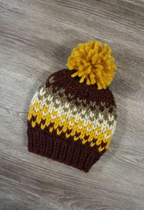 Chunky Fair Isle Kids' Knit Hat / Rowling Hat | Fair isles, Knit ...
