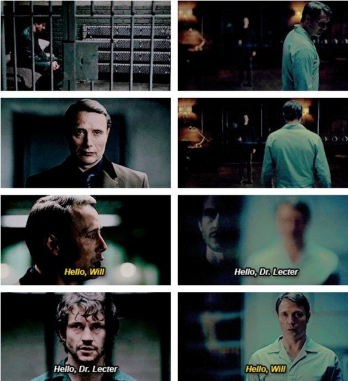 "HANNIBAL. 1.13 ""Savoureux"" - 3.09 ""…And the Woman Clothed in Sun"" Parallels. Source: beaufortplace.tumblr"