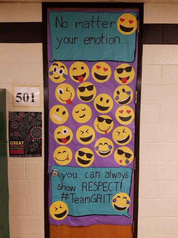 Door Decoration Respect Emoji Classroom Middle School