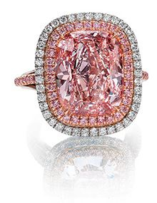 Extremely rare fancy color diamonds - yallow - pink - natural color diamonds are taking the place of traditional white diamond engagement rings in celebrity circles.