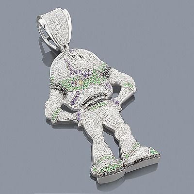 Unique custom jewelry this buzz lightyear diamond pendant in 10k unique custom jewelry this buzz lightyear diamond pendant in 10k gold weighs approximately 24 grams aloadofball Images