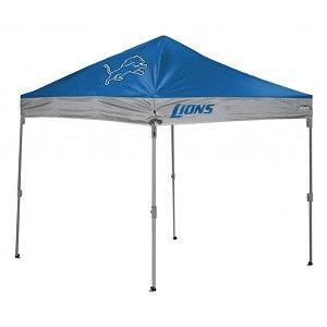 Detroit Lions 10 X 10 Straight Leg Tailgate Canopy Tent Canopy Tent Detroit Lions Tent