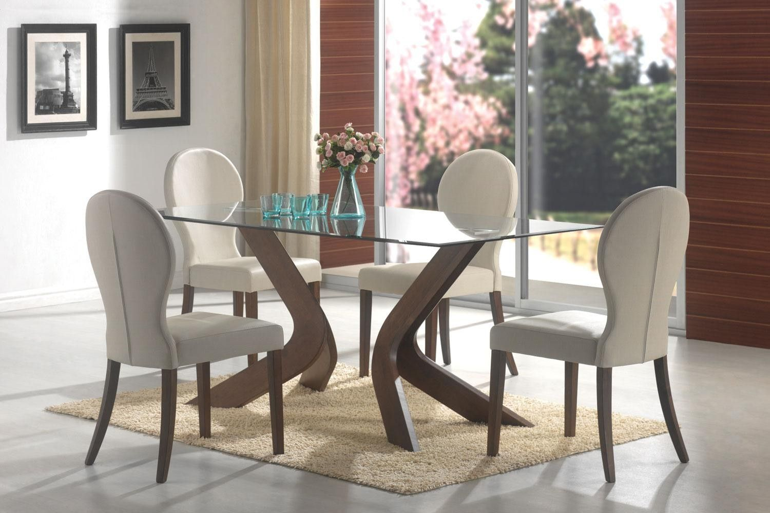 Lowest price online on all coaster san vicente glass top rectangular dining table in walnut 120361