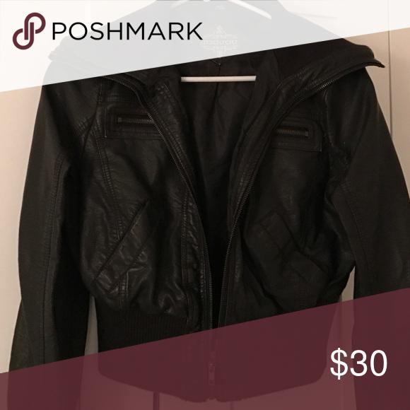 Black leather jacket Black leather jacket Jou Jou Jackets & Coats