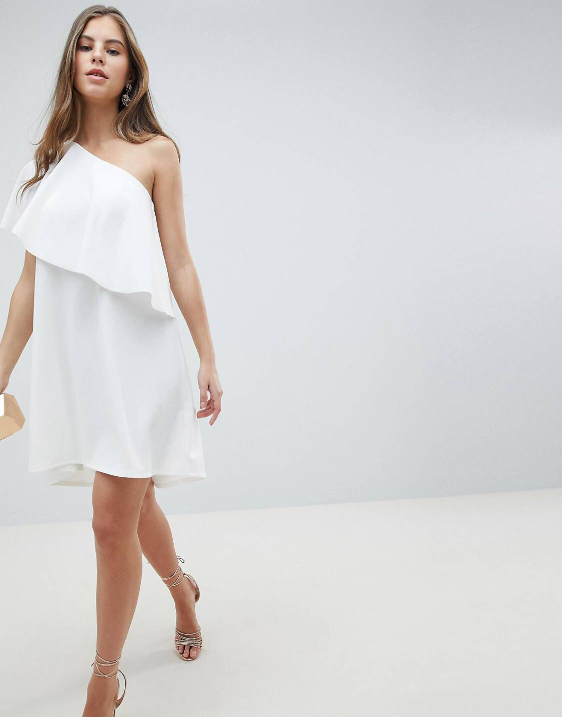 Just When I Thought I Didn T Need Something New From Asos I Kinda Do Dresses White Dress Summer Cape Dress [ 1436 x 1125 Pixel ]