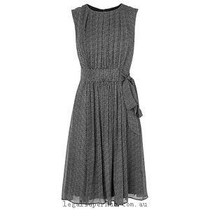L.K. Bennett Jaklyn Printed Silk Dress Black/White 11555491 100% Silk