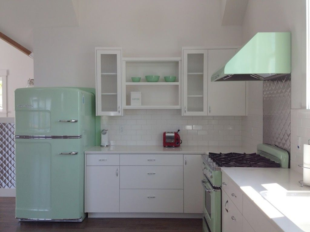 Uncategorized Retro Kitchen Small Appliances gorgeous big chill fridge in jadite green lovely kitchens find this pin and more on kitchens