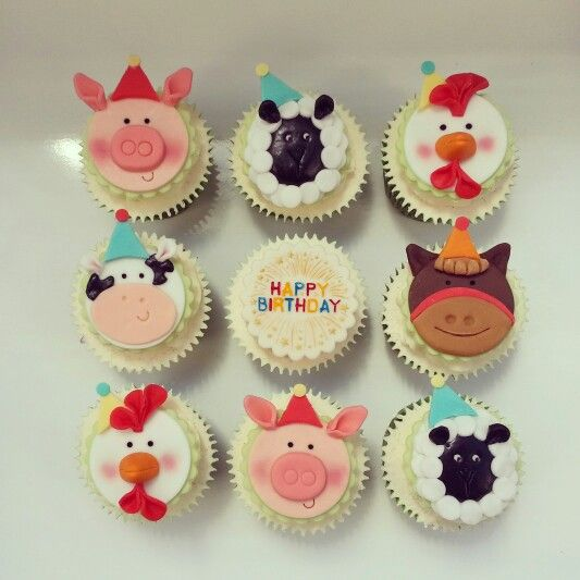 Farm Animal Cupcakes - Beanie's Bakery