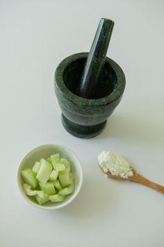 Simple Cucumber Milk Eye Mask Recipe