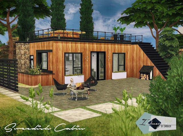 Tiny House Challenge Sims House Sims 4 Modern House Sims 4 Houses