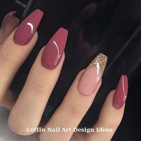 40 Trendy Coffin Nails Design Ideas The Glossychic Aycrlic Nails Coffin Nails Designs Short Acrylic Nails