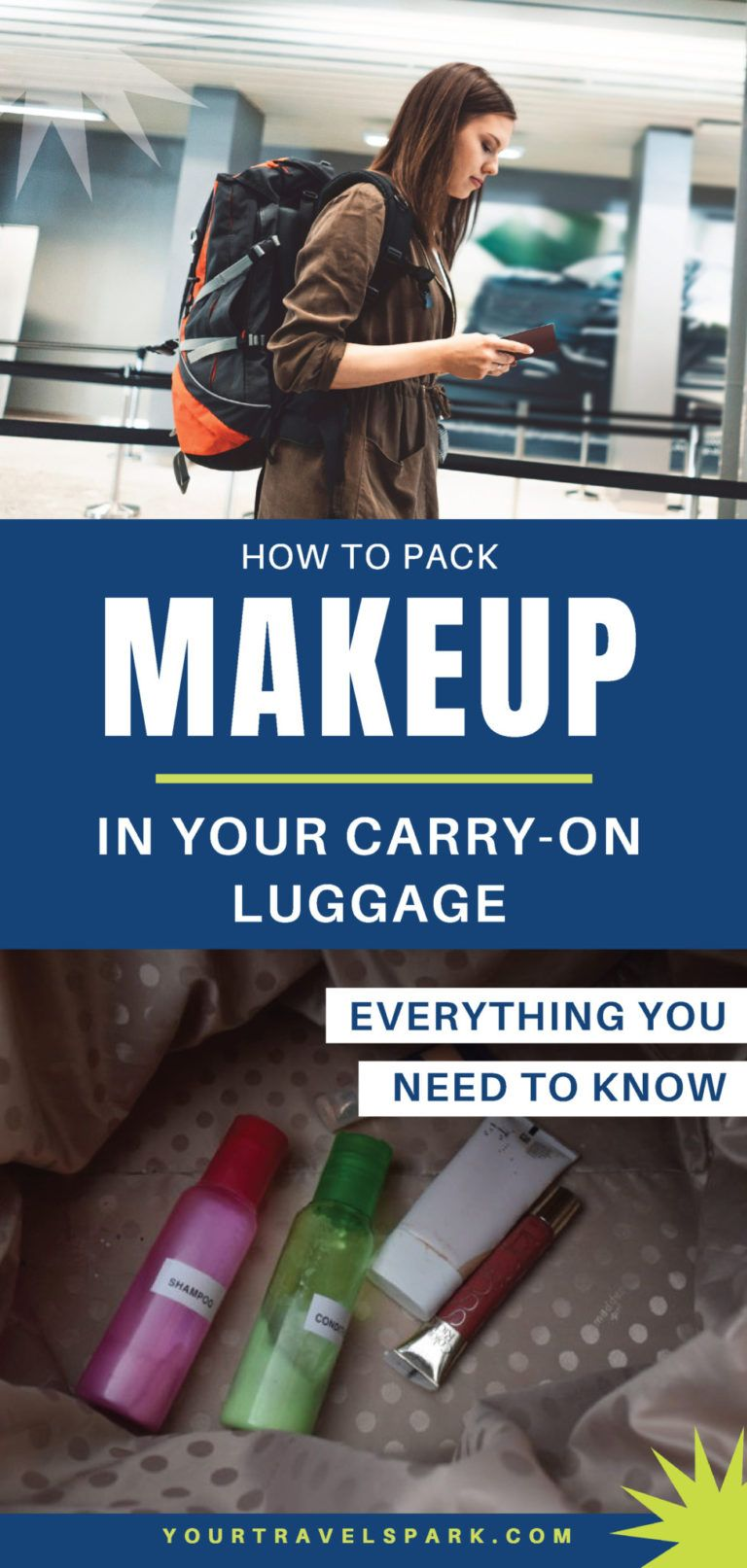 How to pack makeup in carryon luggage 2020 TSA travel