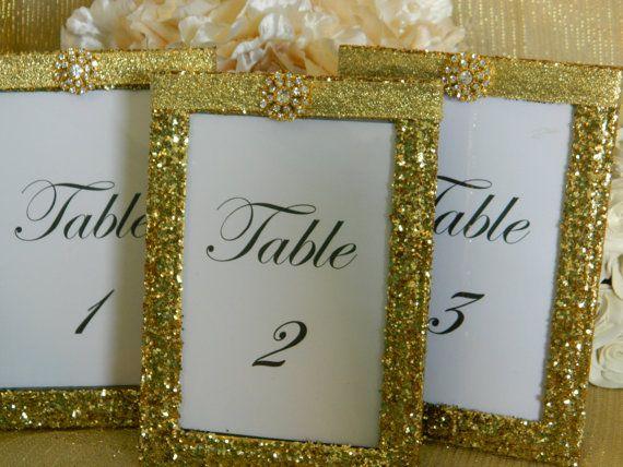 Weddings Wedding Table Numbers Table Number Holders by KPGDesigns, $85.95