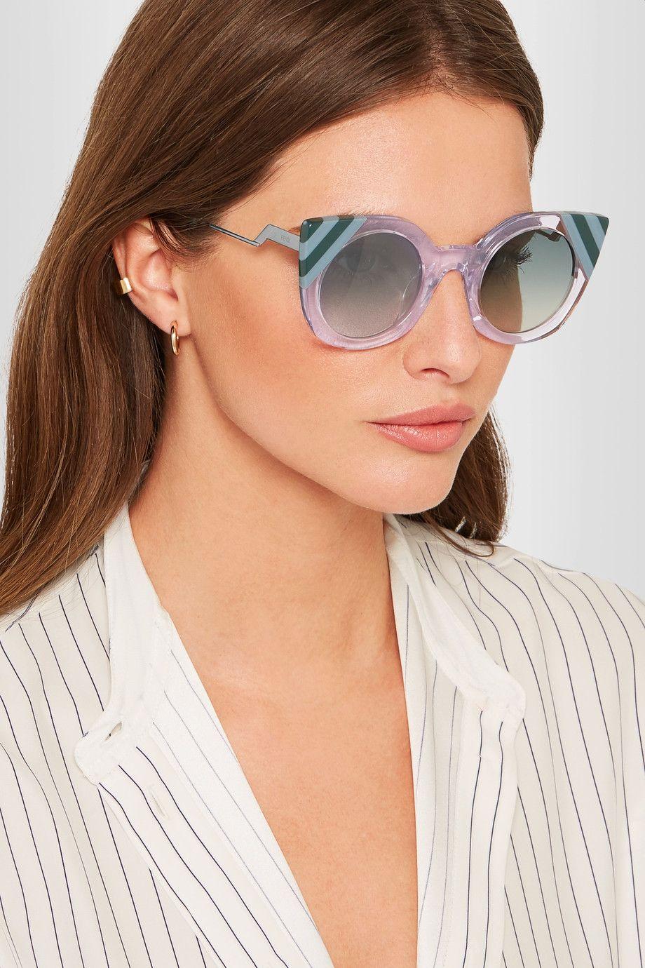 Fendi | Cat-eye acetate sunglasses | NET-A-PORTER.COM | 4 | Pinterest