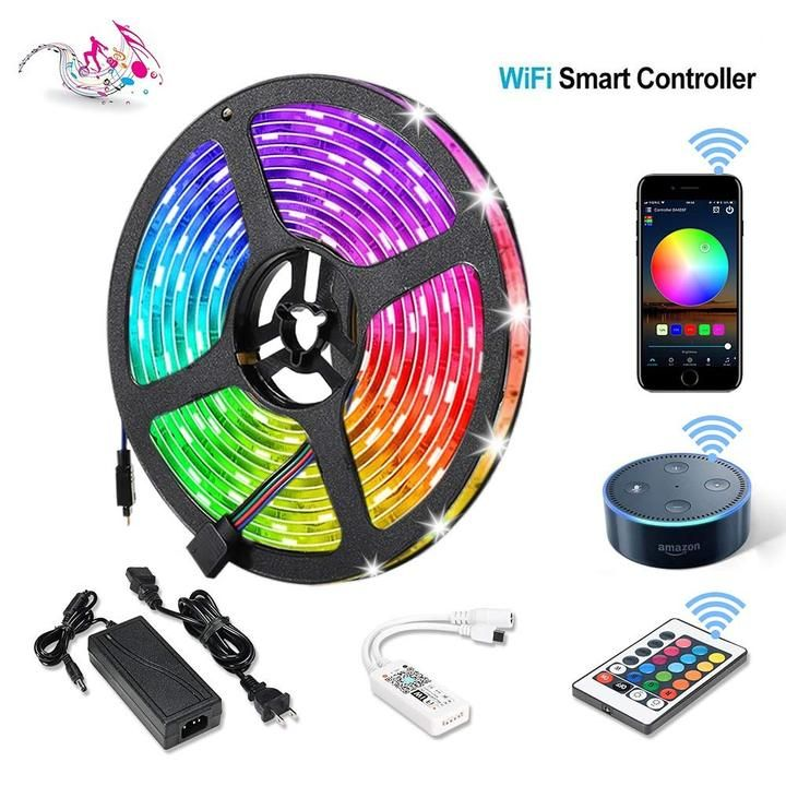 (1 Pack) Wireless Smart Phone Controlled LED Strip Light Kit