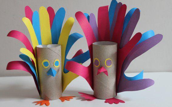 Uitgelezene Pauw van wc rollen knutselen. toilet paper peacock crafts SI-96