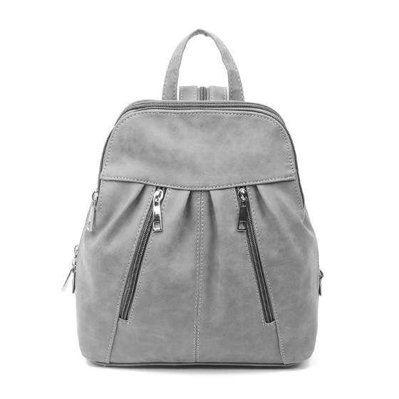 Damen Rucksack Cityrucksack Schultertasche Stadtrucksack Backpack Schu Ruck3976 Grau In 2020 Schultertasche Taschen Damen Umhangetasche Leder
