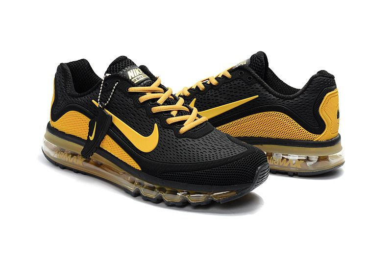 Cheap Air Max 2017 Mens Black Yellow Running Shoes