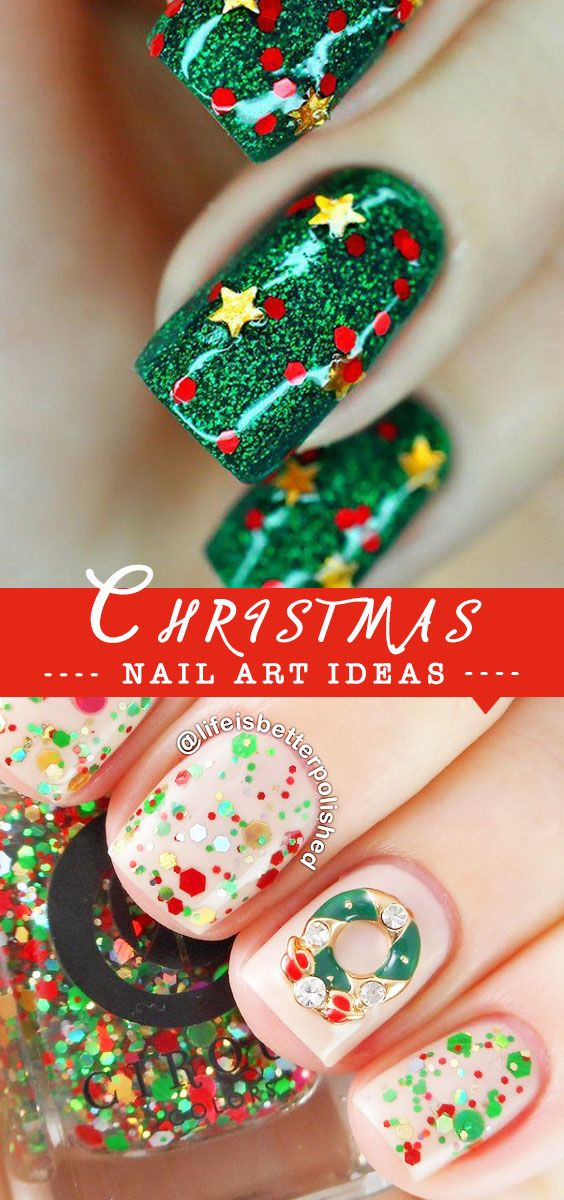 Bright and Festive Christmas Nail Art Designs For This Season