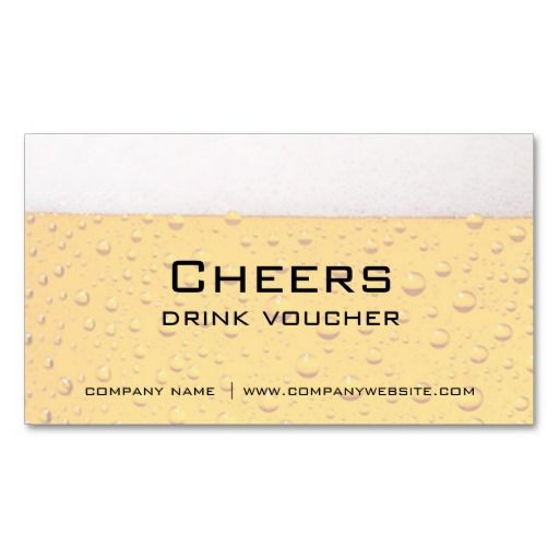 Bar Restaurant Or Brewery Drink Vouchers Zazzle Com Coupon Template Brewery Voucher Template Free