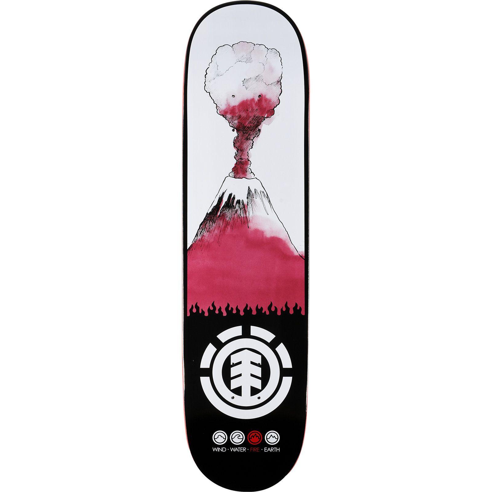 Zumiez roller skates - Element Oh Fire 8 0 Featherlight Skateboard Deck At Zumiez