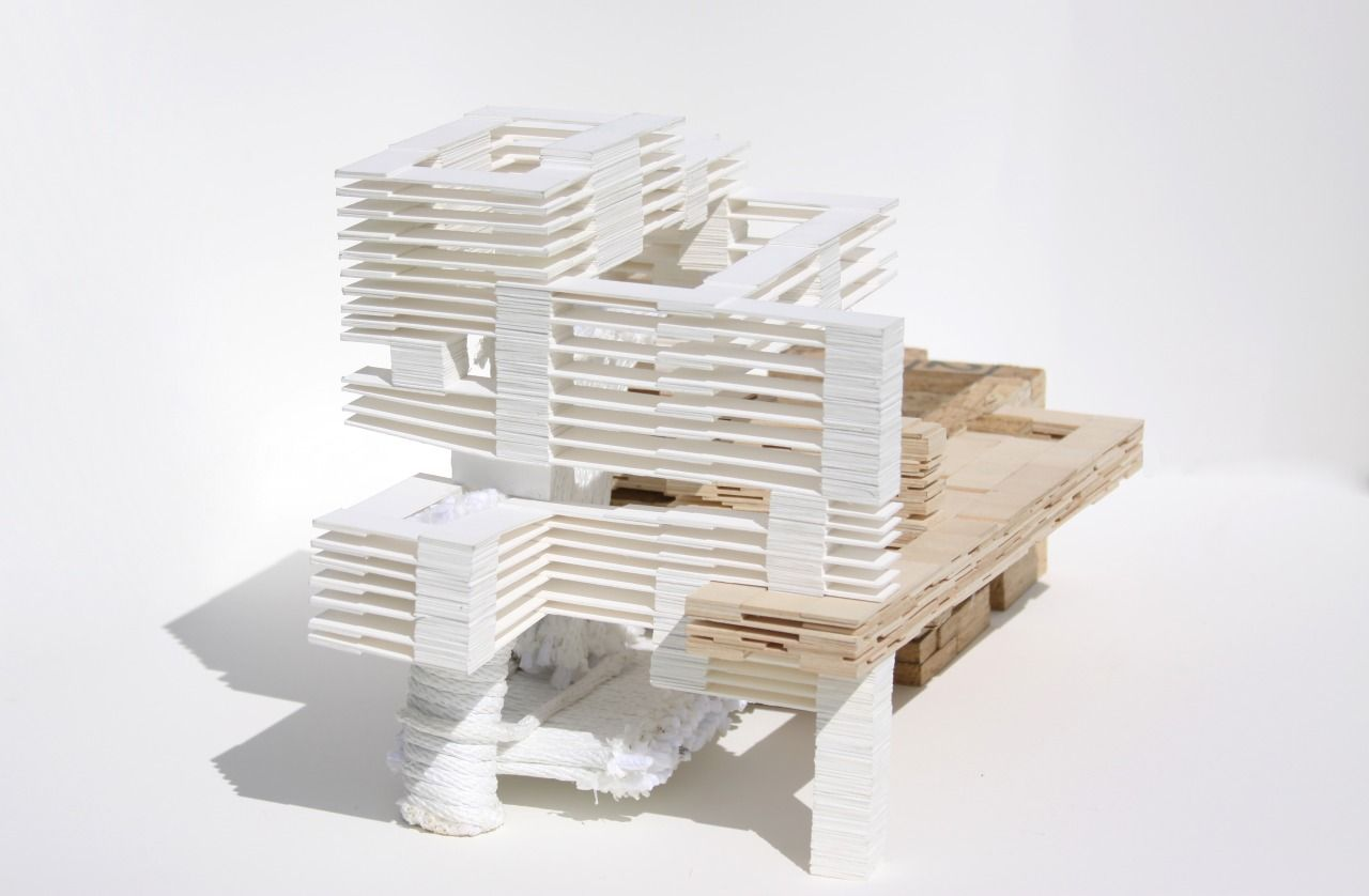 The Flow And Interrelation Between Spaces 4 Ply Museum Board Osb 1 16 Basswood 1 4 Rope Arquitectura Maquetas Arquitectonico